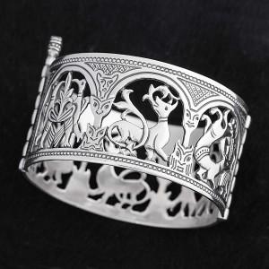 Створчатый браслет из серебра - Народные гуляния